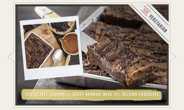 Buy our new Salted Caramel Brownie