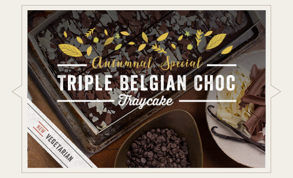 Buy Our New Triple Belgian Chocolate Cake