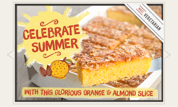 Buy Our New Orange Almond Polenta Traybake